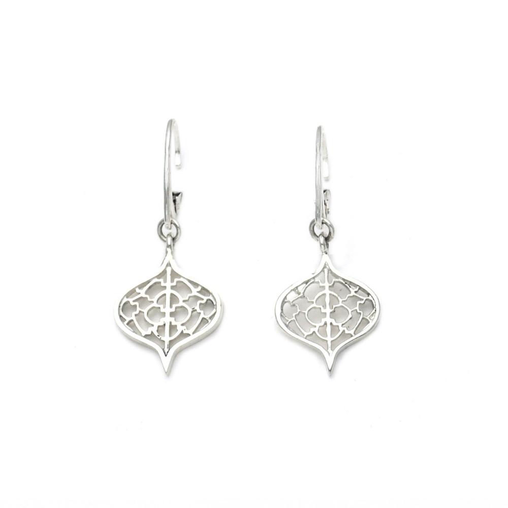 Sterling Silver Saxon Orb Earrings