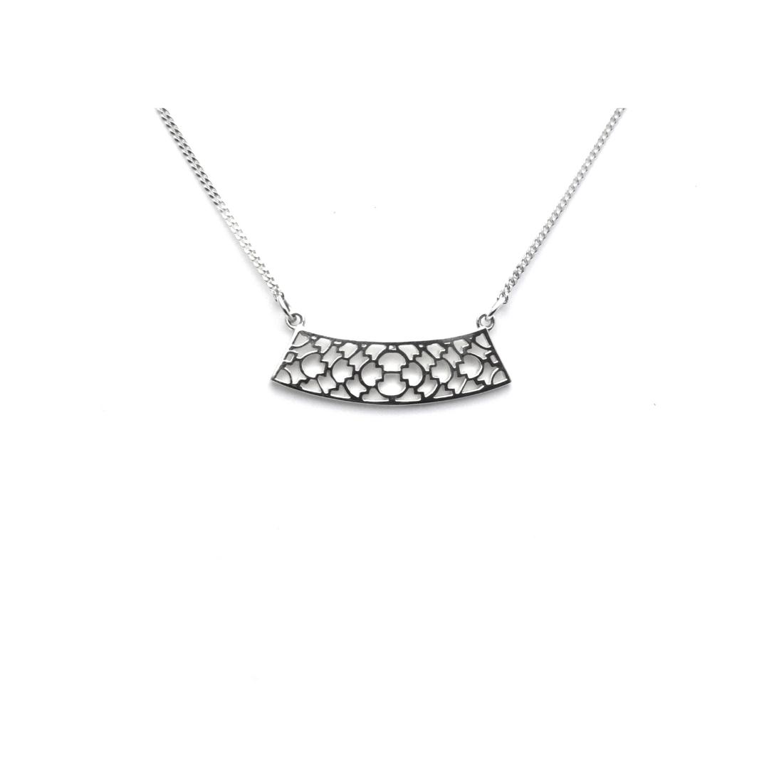 Sterling Silver Lattice Pendant
