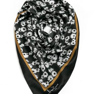 White Bloom Scarf