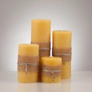 YYC Beeswax Natural Beeswax Pillar