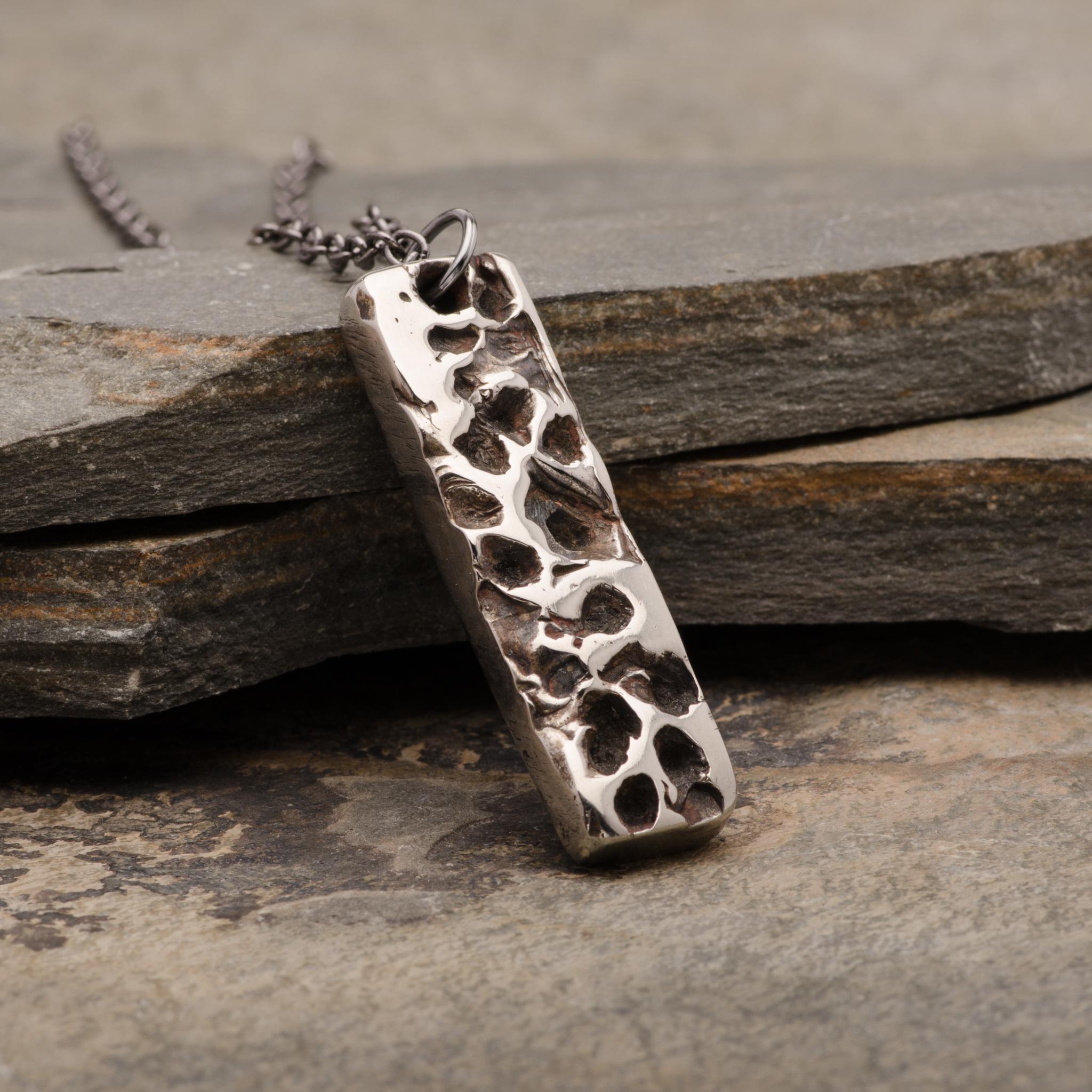 Totem Moon Pendant Necklace Mens Bronze Jewelry