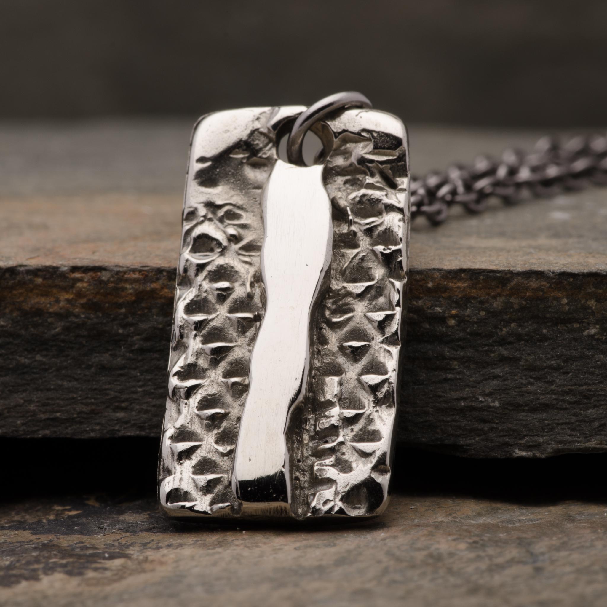 Totem Stingray Pendant Necklace Mens Bronze Jewelry
