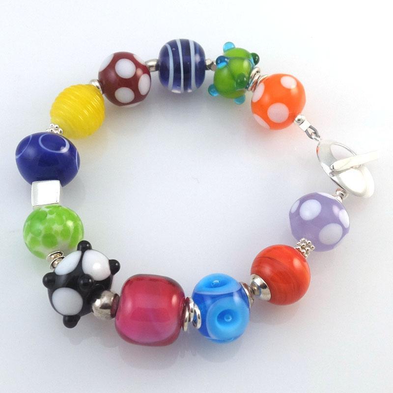 carnival bead bracelet sailorgirl jewelry