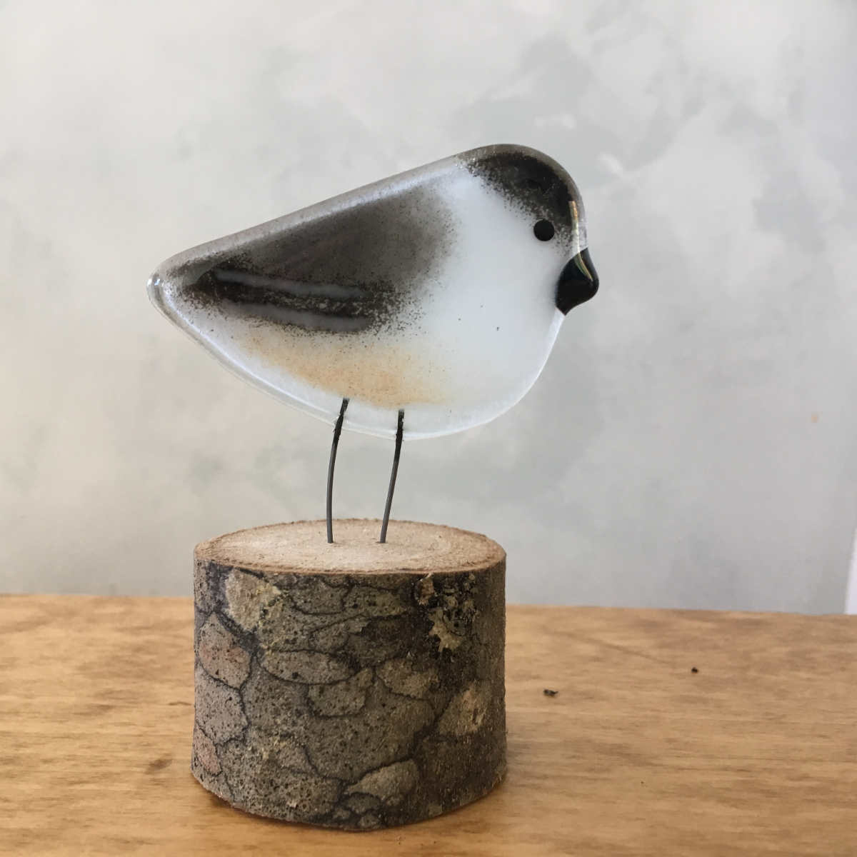 Chickadee Chick Glass Ornament by The Glass Bakery