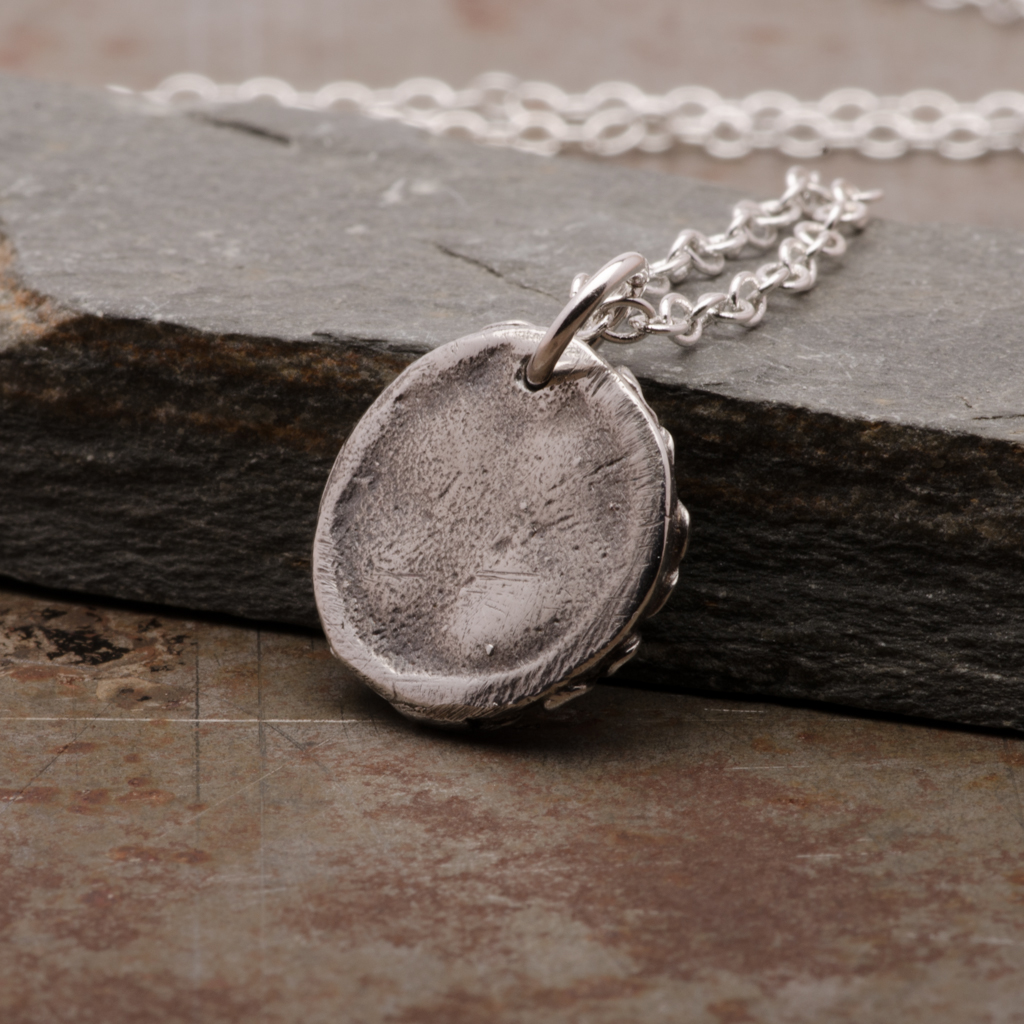 Cross Rose Pendant Necklace Sterling Silver Women Jewelry Back