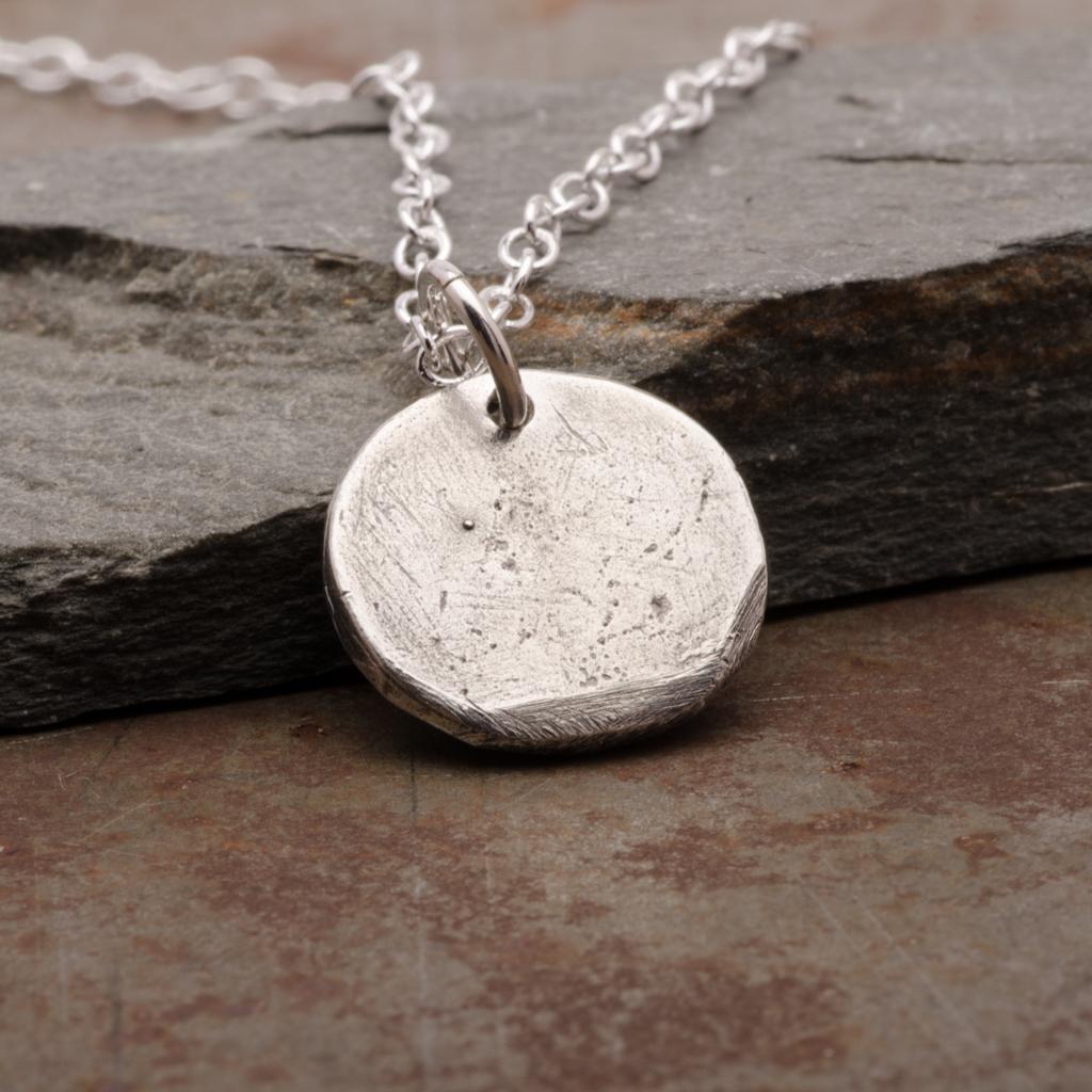 Cross Double Hearts Pendant Necklace Sterling Silver Women Jewelry Back