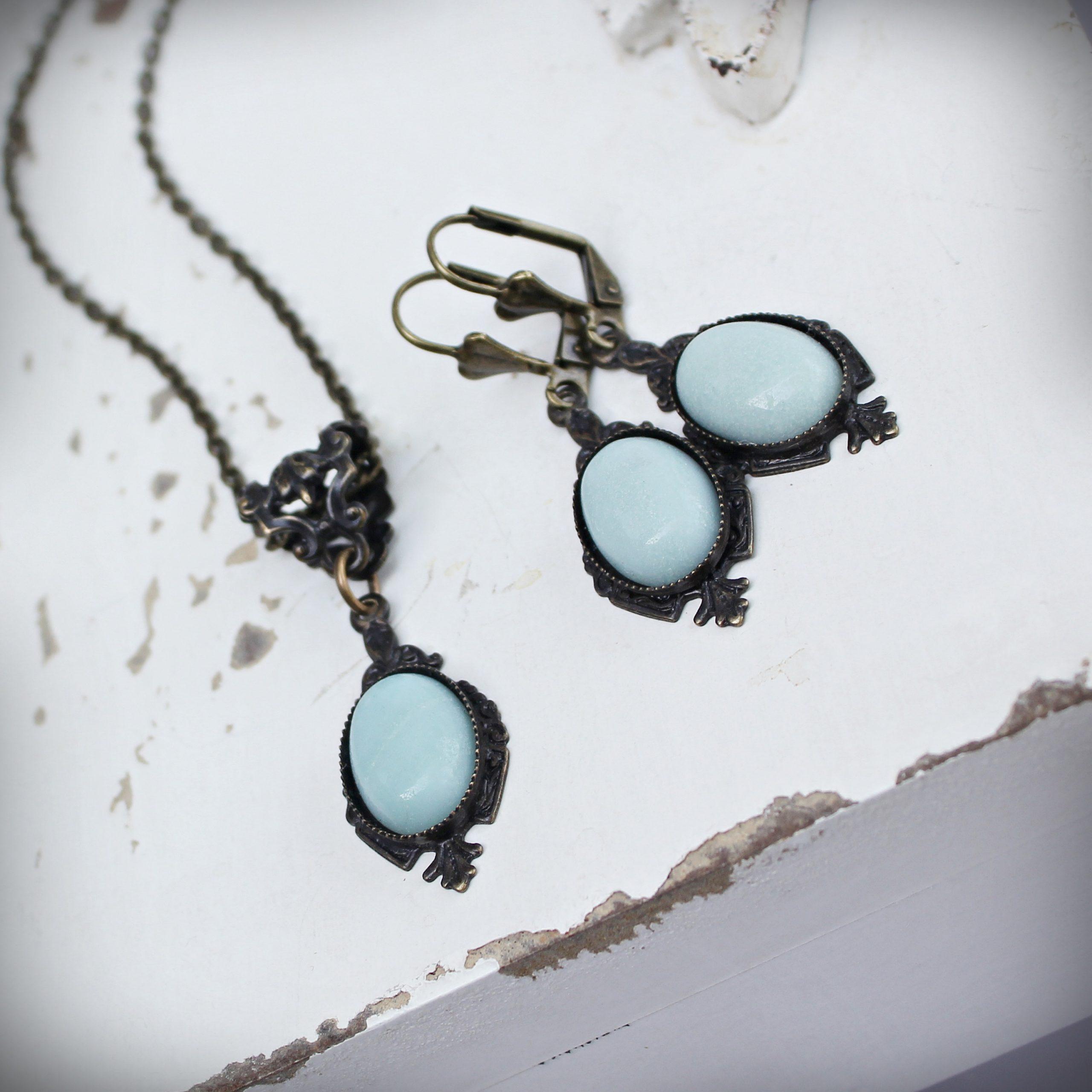 amazonite necklace earrings
