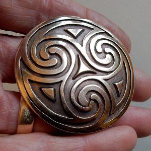 Celtic Spiral Brooch or Pendant