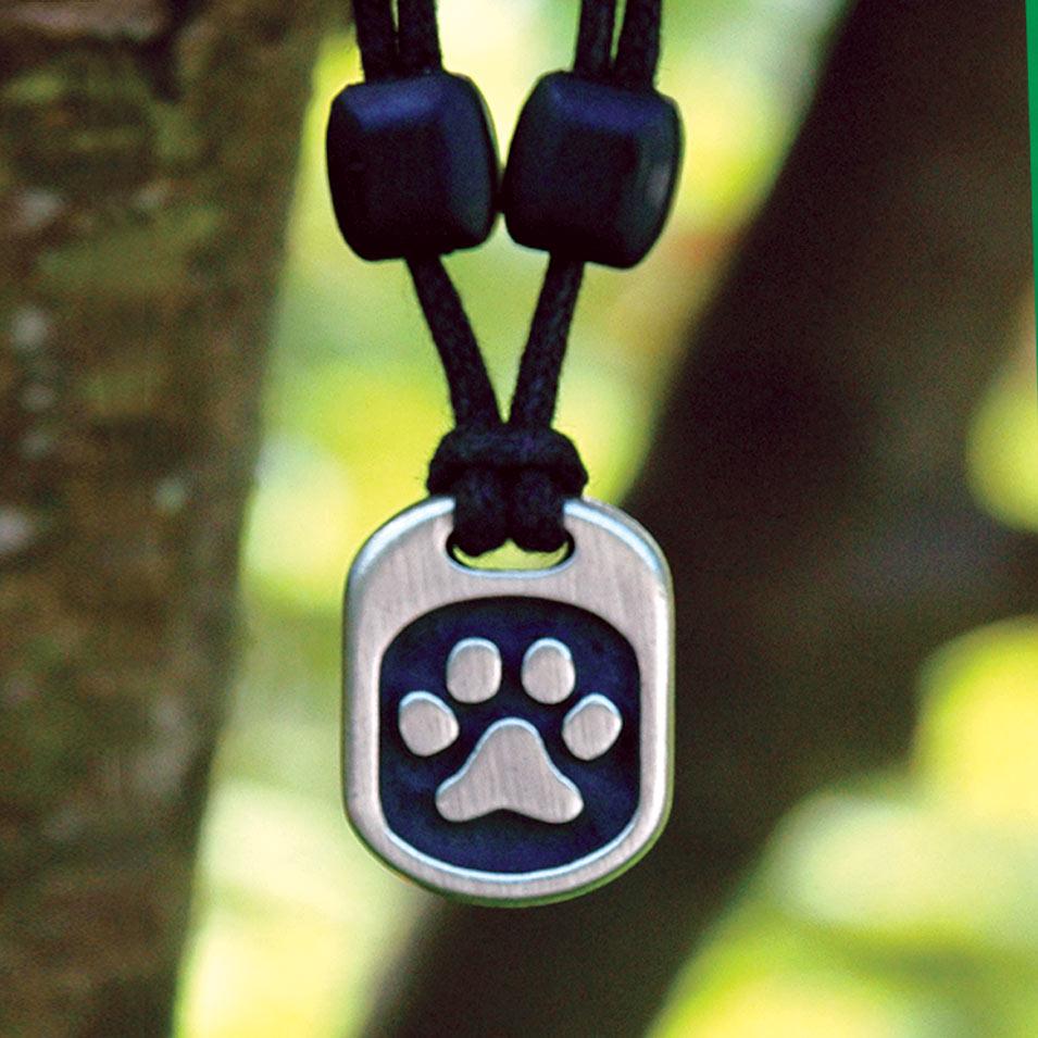 pet paw pendant