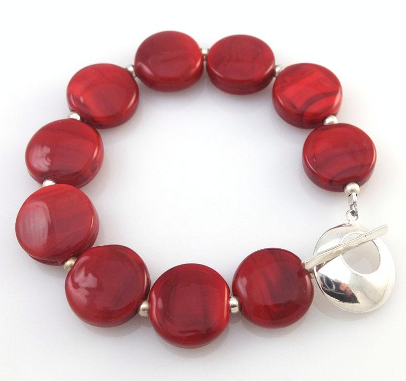 cherry red bracelet sailorgirl jewelry
