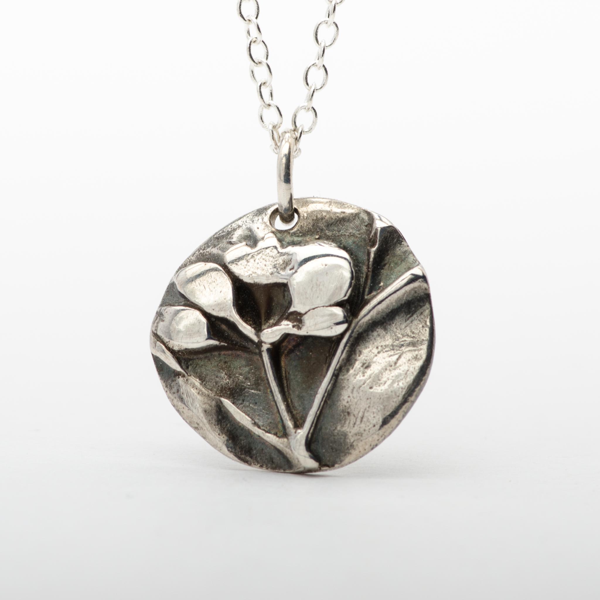 Wild Flowers Pendant Necklace Sterling Silver Women Jewelry