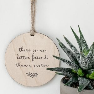 There Is No Better Friend Than A Sister, gift tag, tree ornament, wall banner