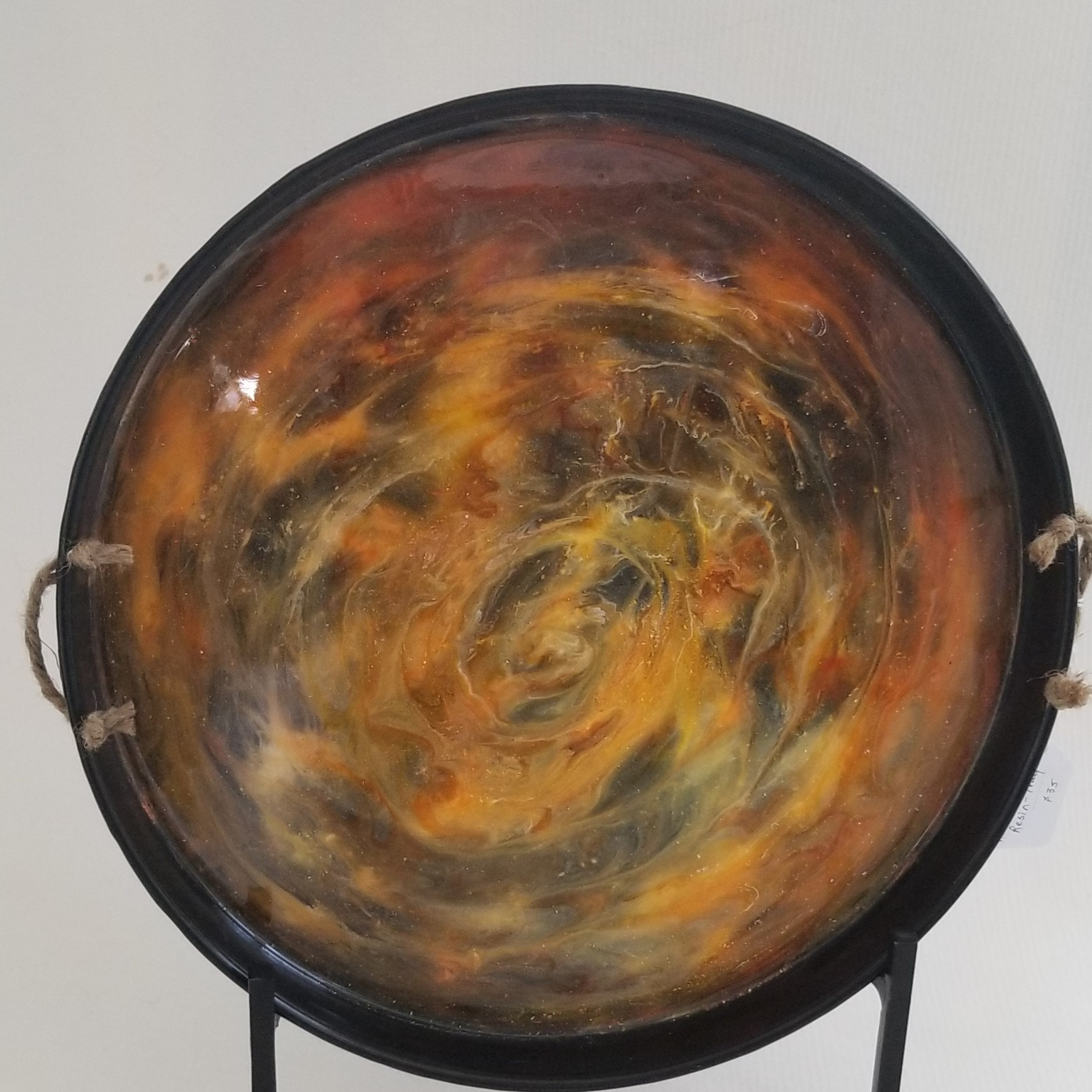 Swirled Resin Serving Tray