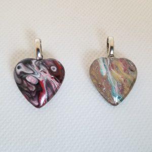 Acrylic, Glass Heart Pendant