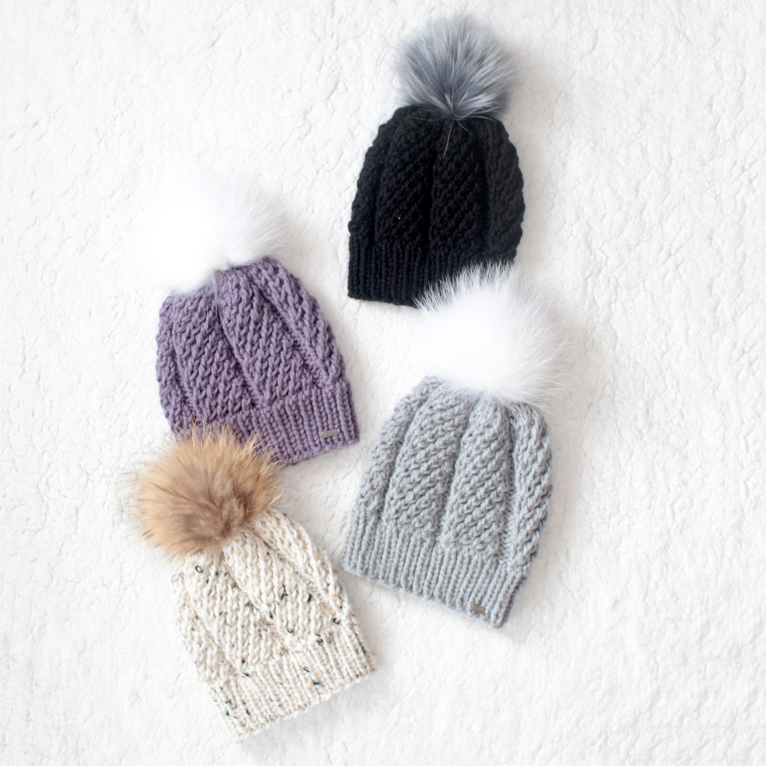 Knit Pom Pom Toque