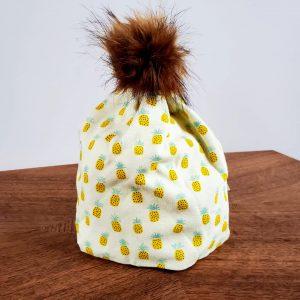Stretch Knit Pom Pom Hat