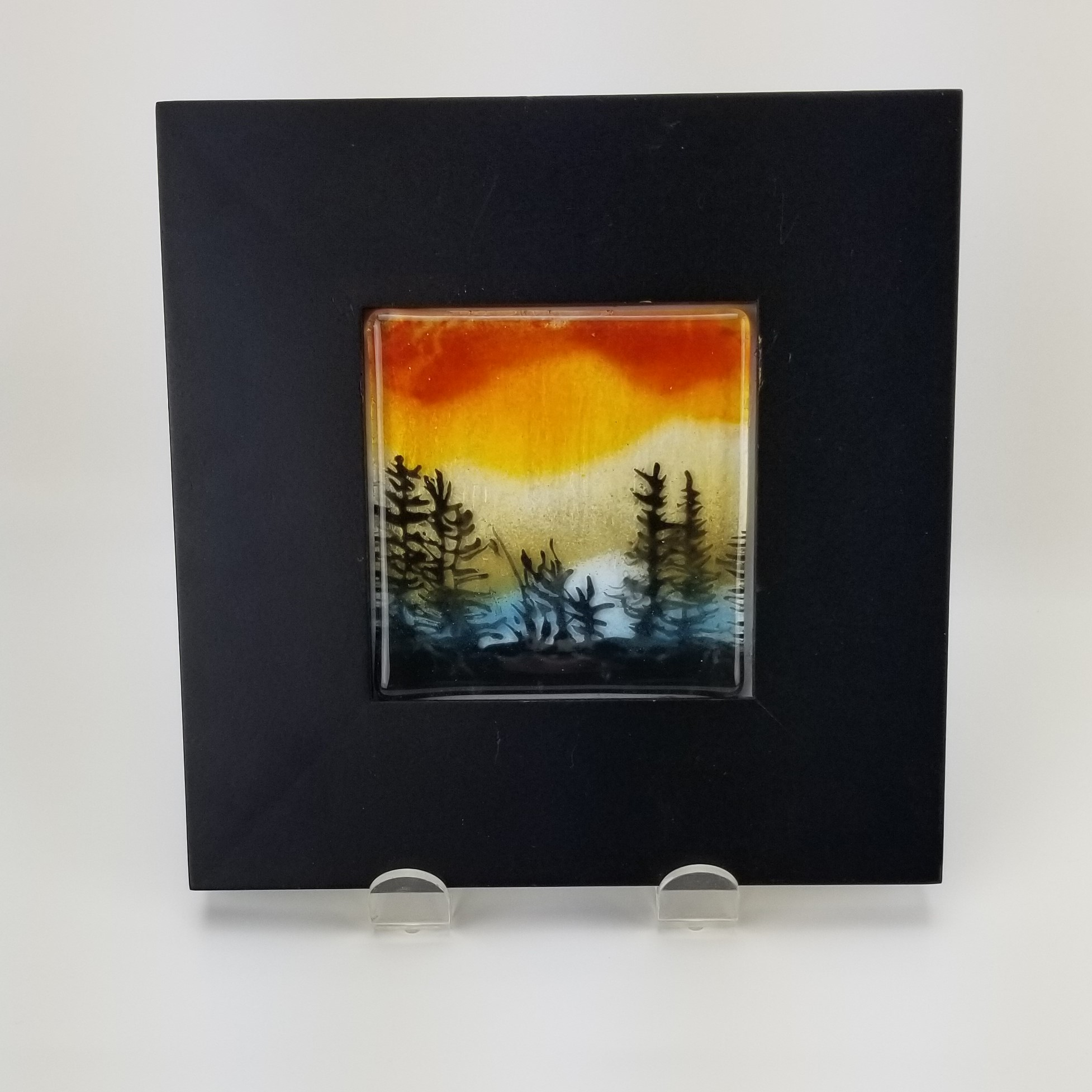 Fused Glass Framed Landscape