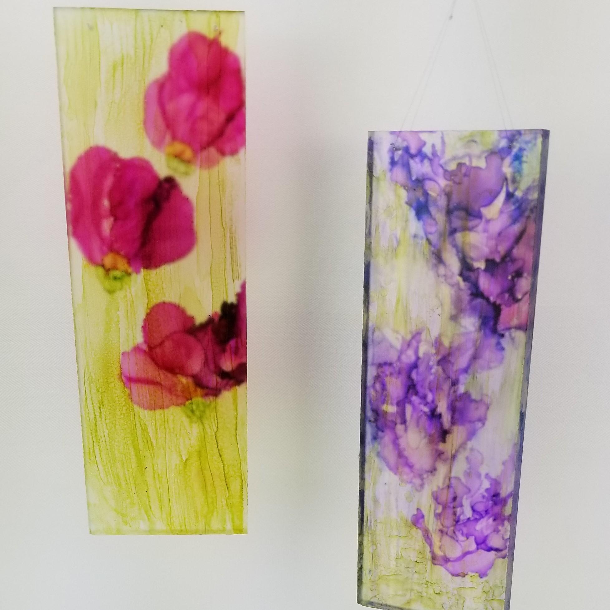 Purple or Pink Flower Hangings