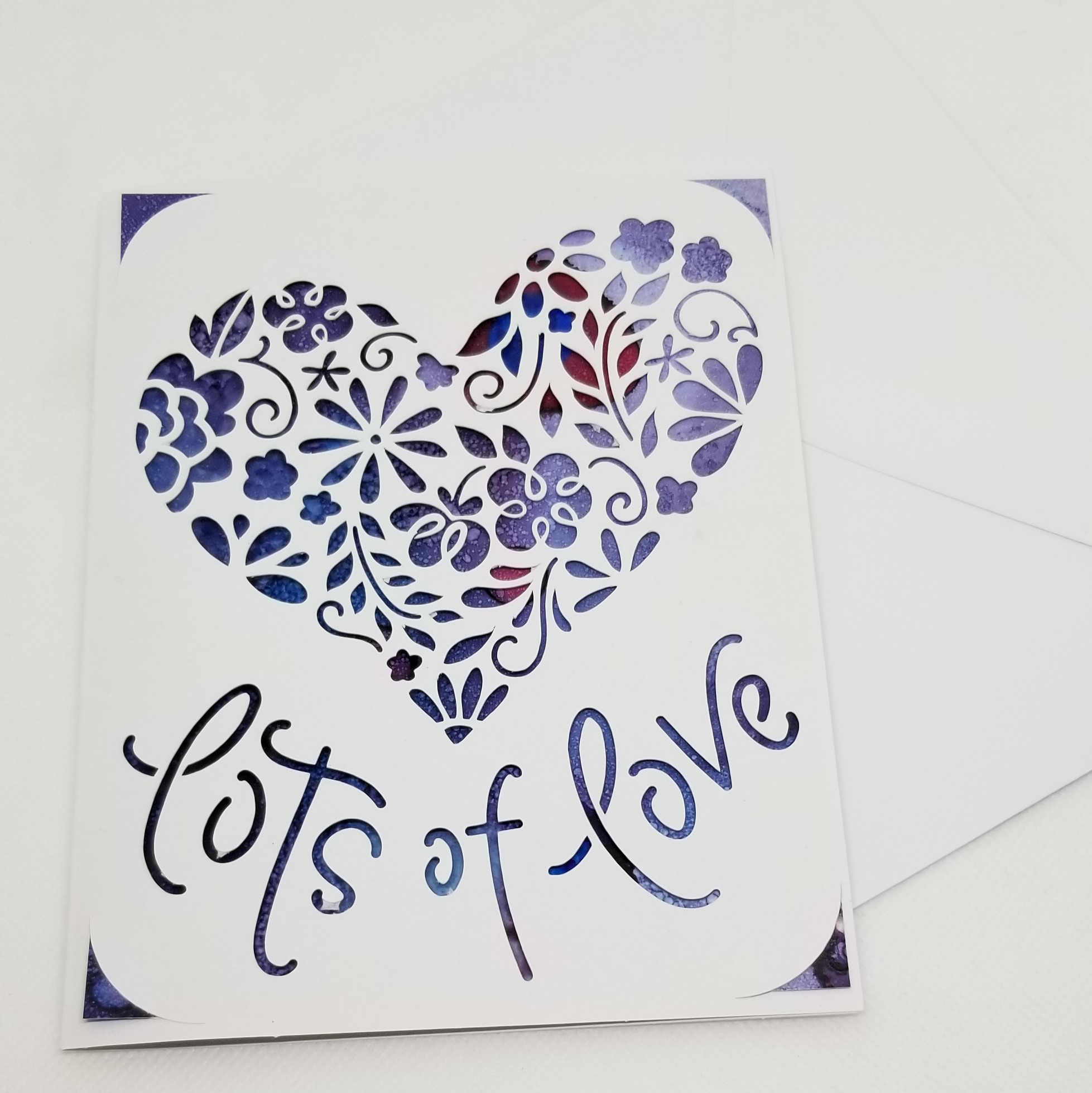 Painted, Cutout Valentine's Card