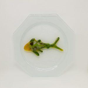 Octagonal Koi Plate