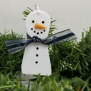 Snowman with Scarf Ornament
