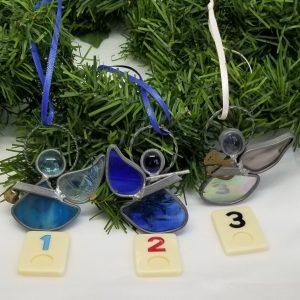 Stained Glass Angel Ornaments