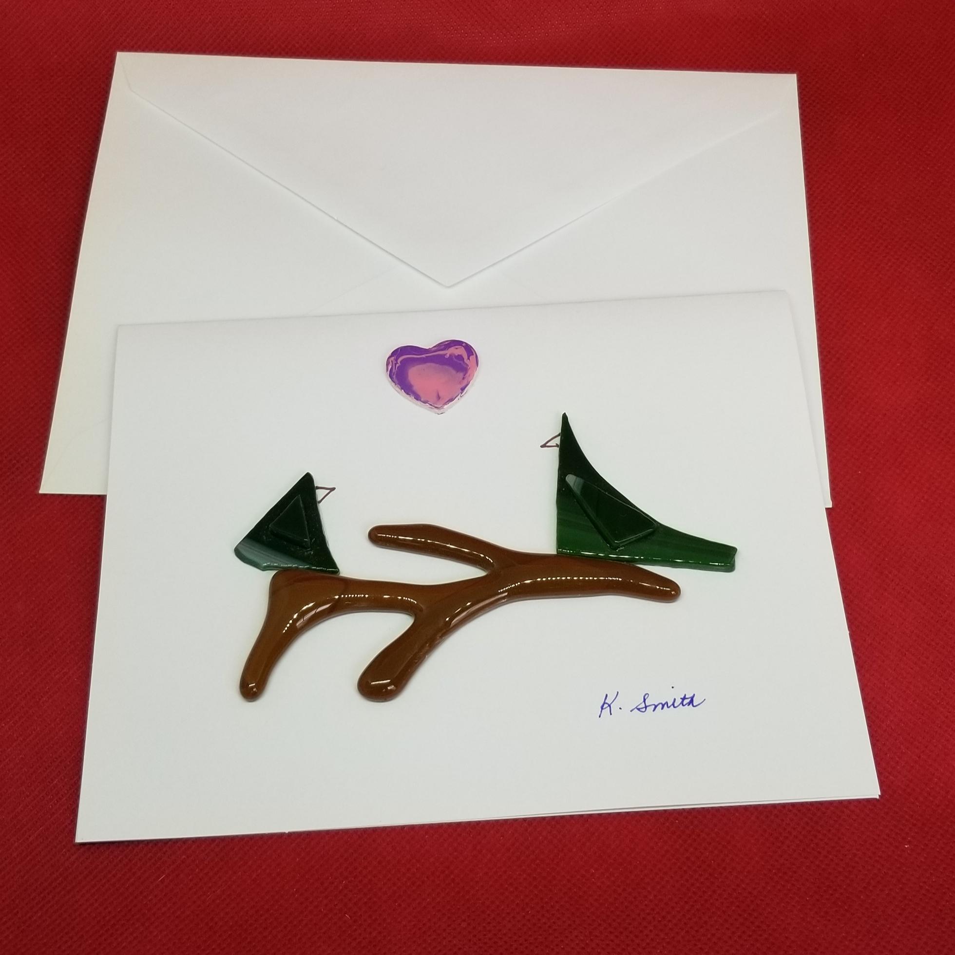 Glass Love Bird Card