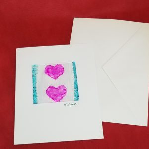 Painted Glass Valentine's Card