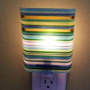 Striped Glass Night Light