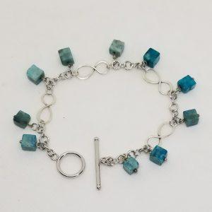 Sterling Silver, Stone Bracelet