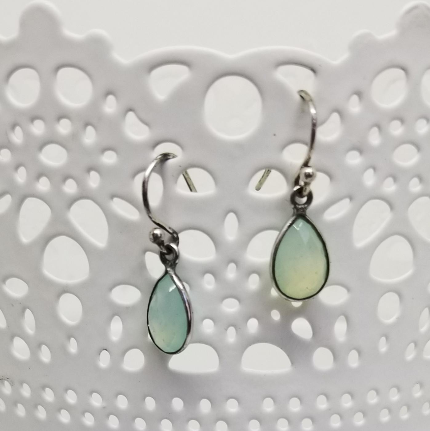 Chalcedony, Sterling Earrings