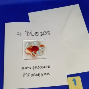 Mother's Day Glass Magnet Card