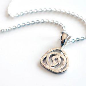 Sterling silver rose pendant by Melissa Pedersen