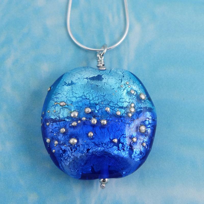 fading sky glass necklace sailorgirl jewelry