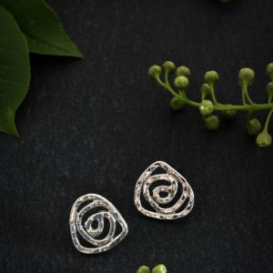 at sterling silver rose studs