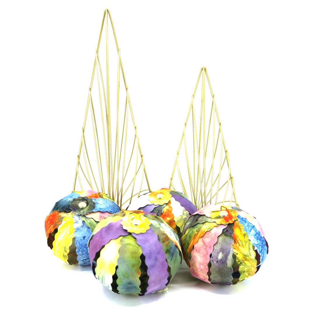 Ecoprint Holiday Ornaments