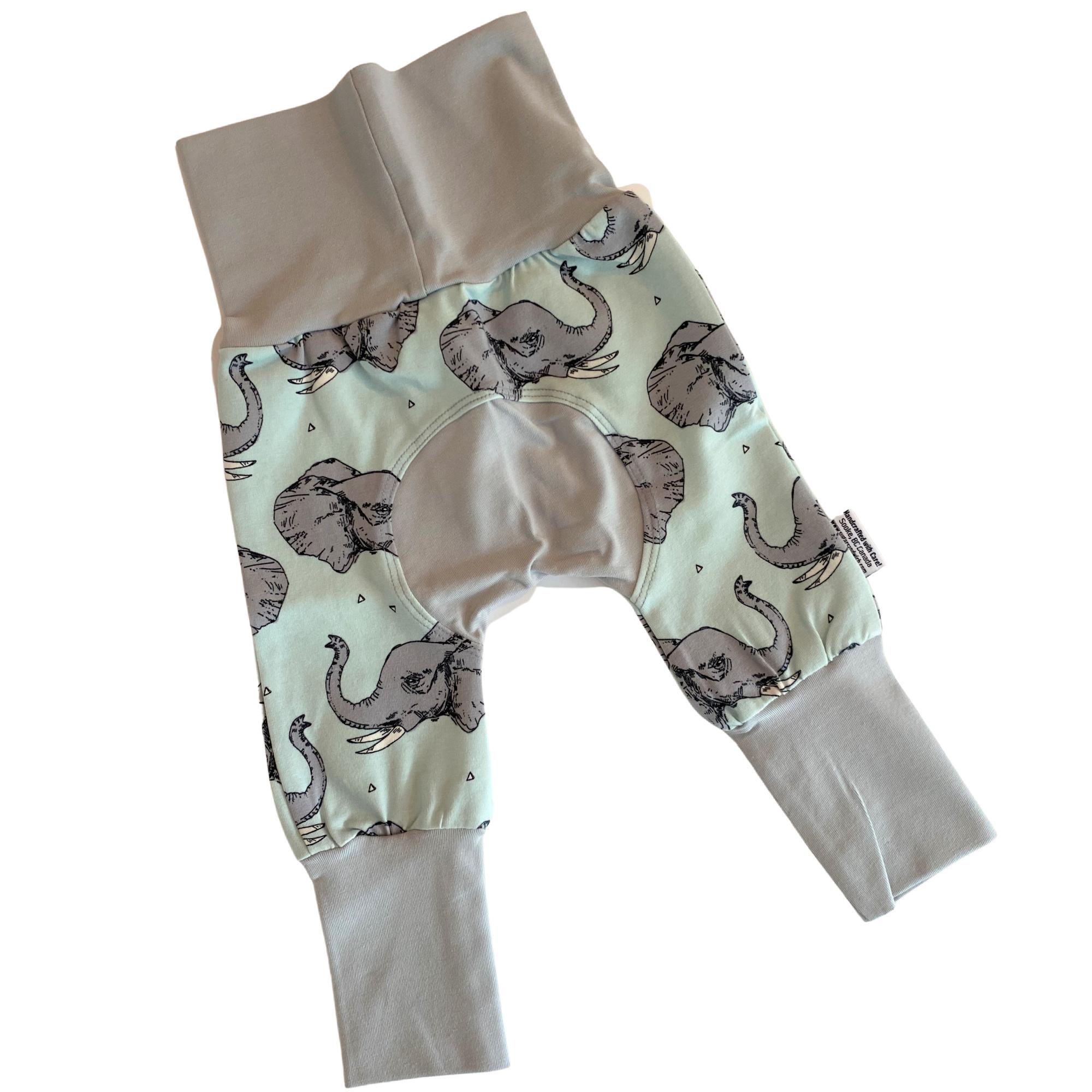 green elephant grow with me pants