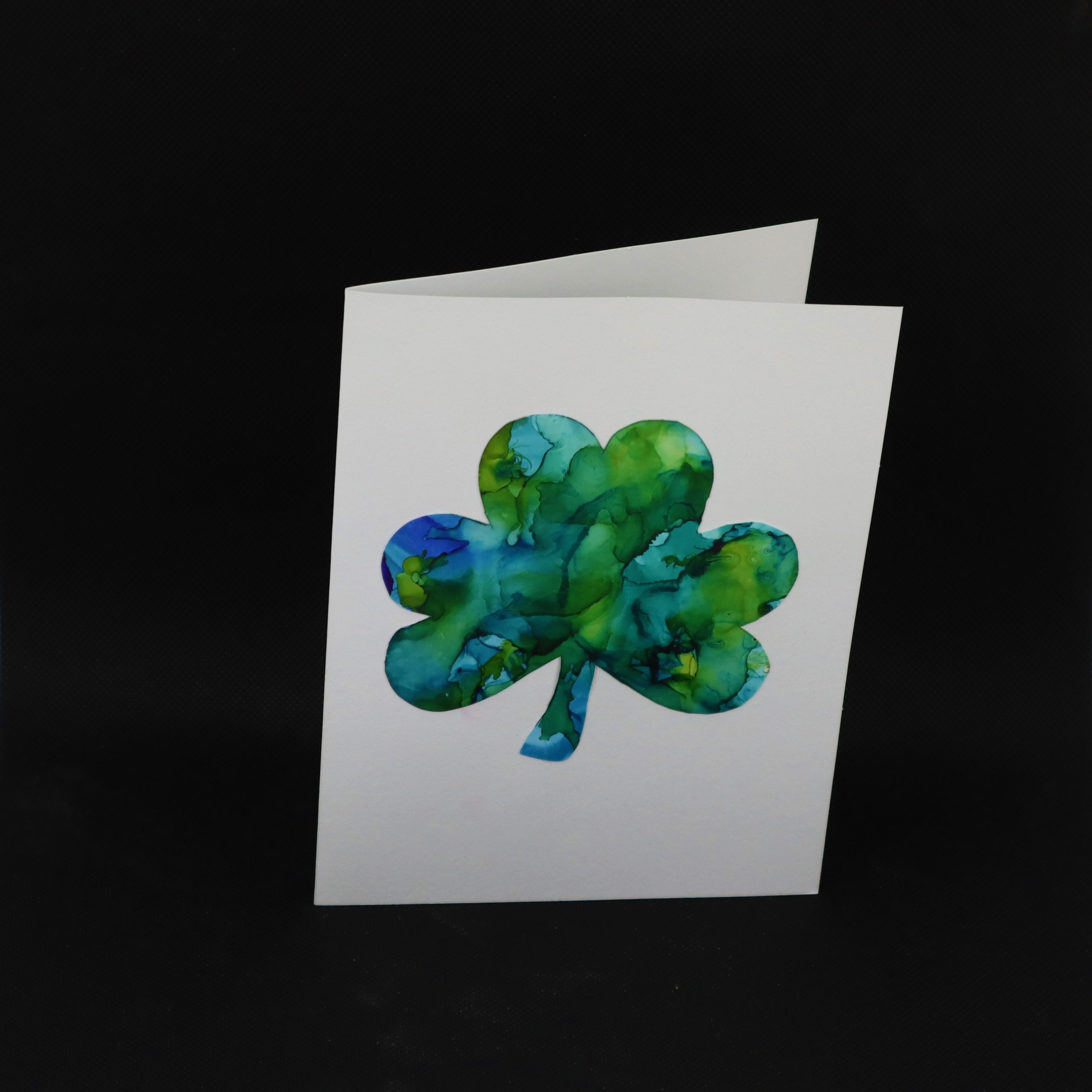 Greeting Card in Alcohol Ink