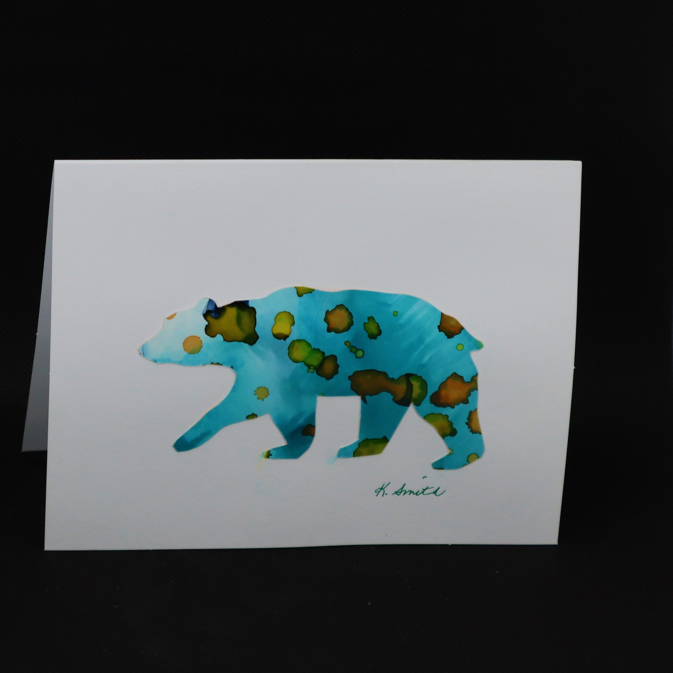 Alcohol Ink Animal Cards