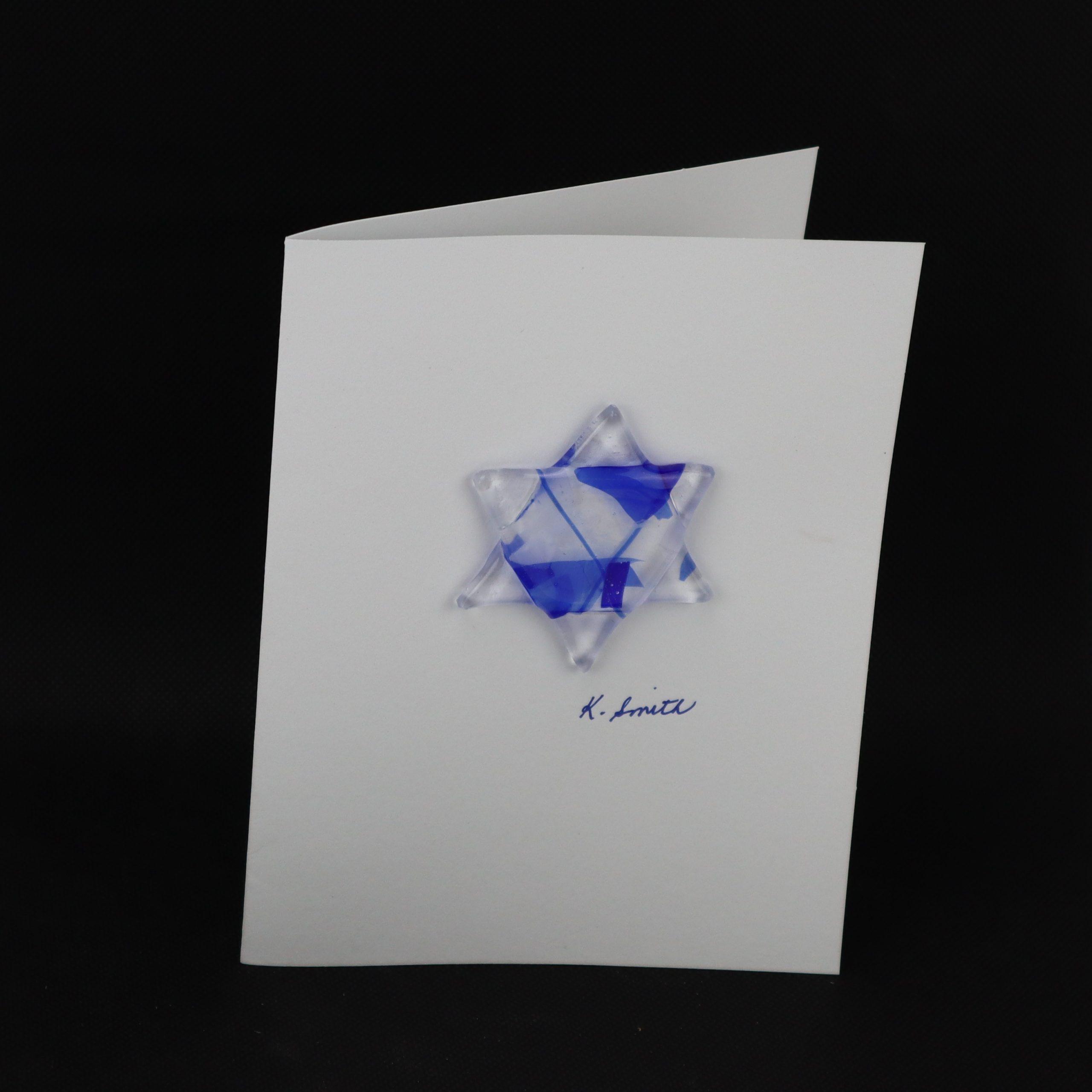 Glass Star of David Keeper Card