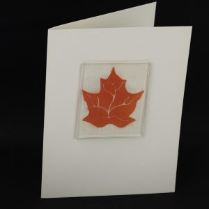 Mica Imprinted Glass Greeting Card