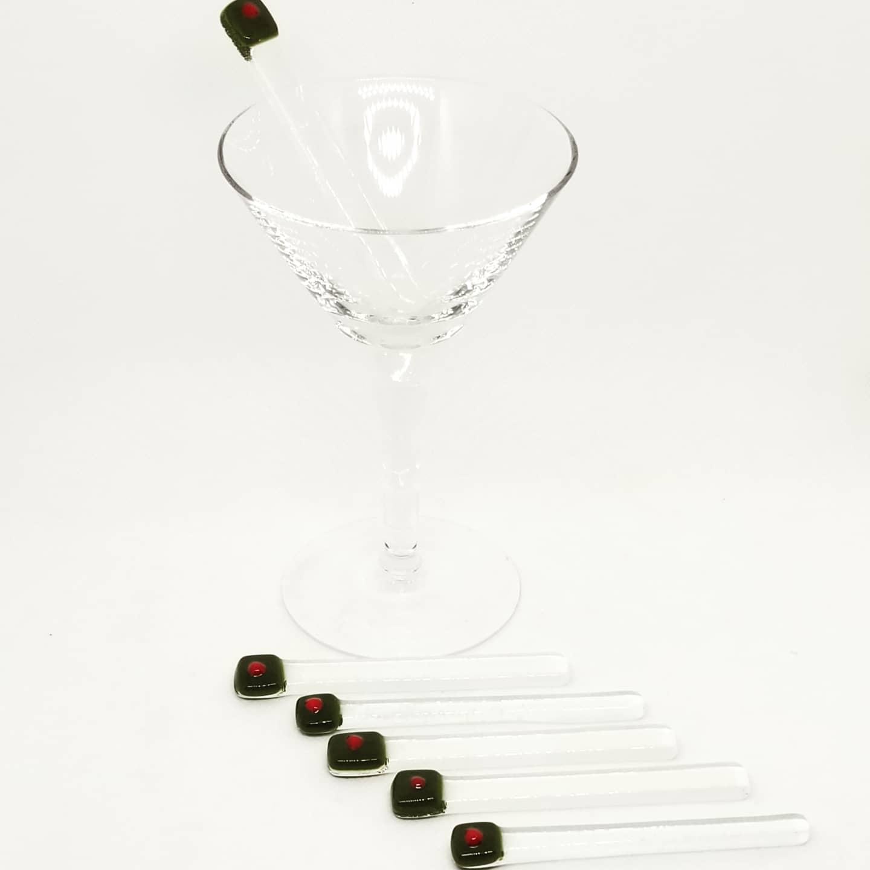 Martini Glass Olive Sticks