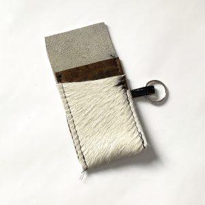 Cow hide card holder