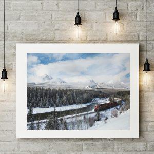 Winter Train Fine Art Print