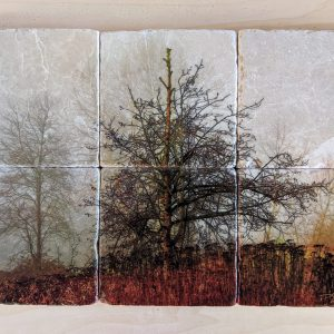 """""""Out of the Fog"""" Set of 6 - Marble Art Coasters"""