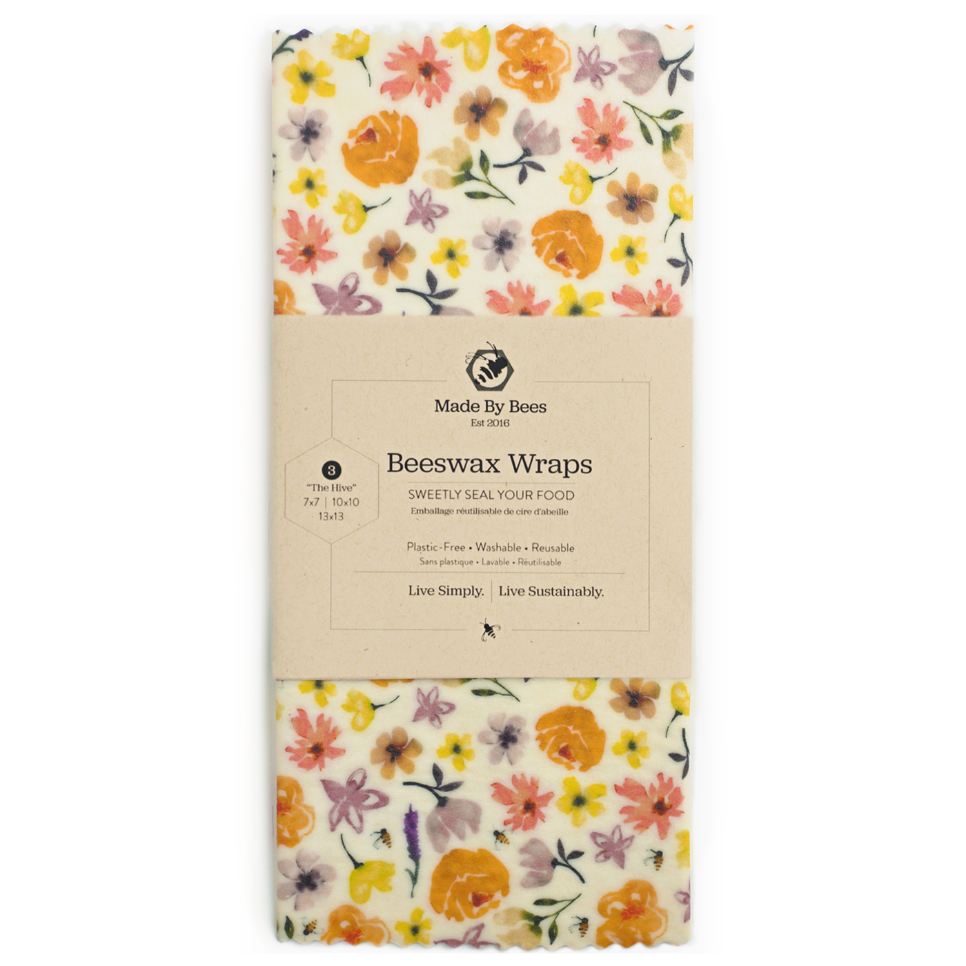 Fab Florals Beeswax Food Wraps