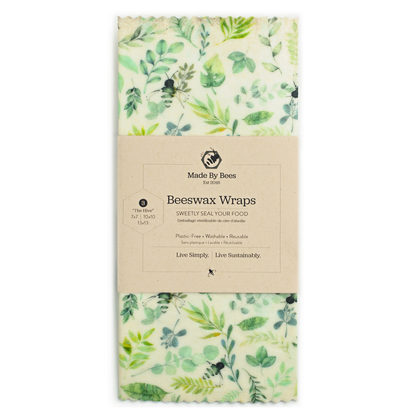 Leafy Greens Beeswax Food Wraps