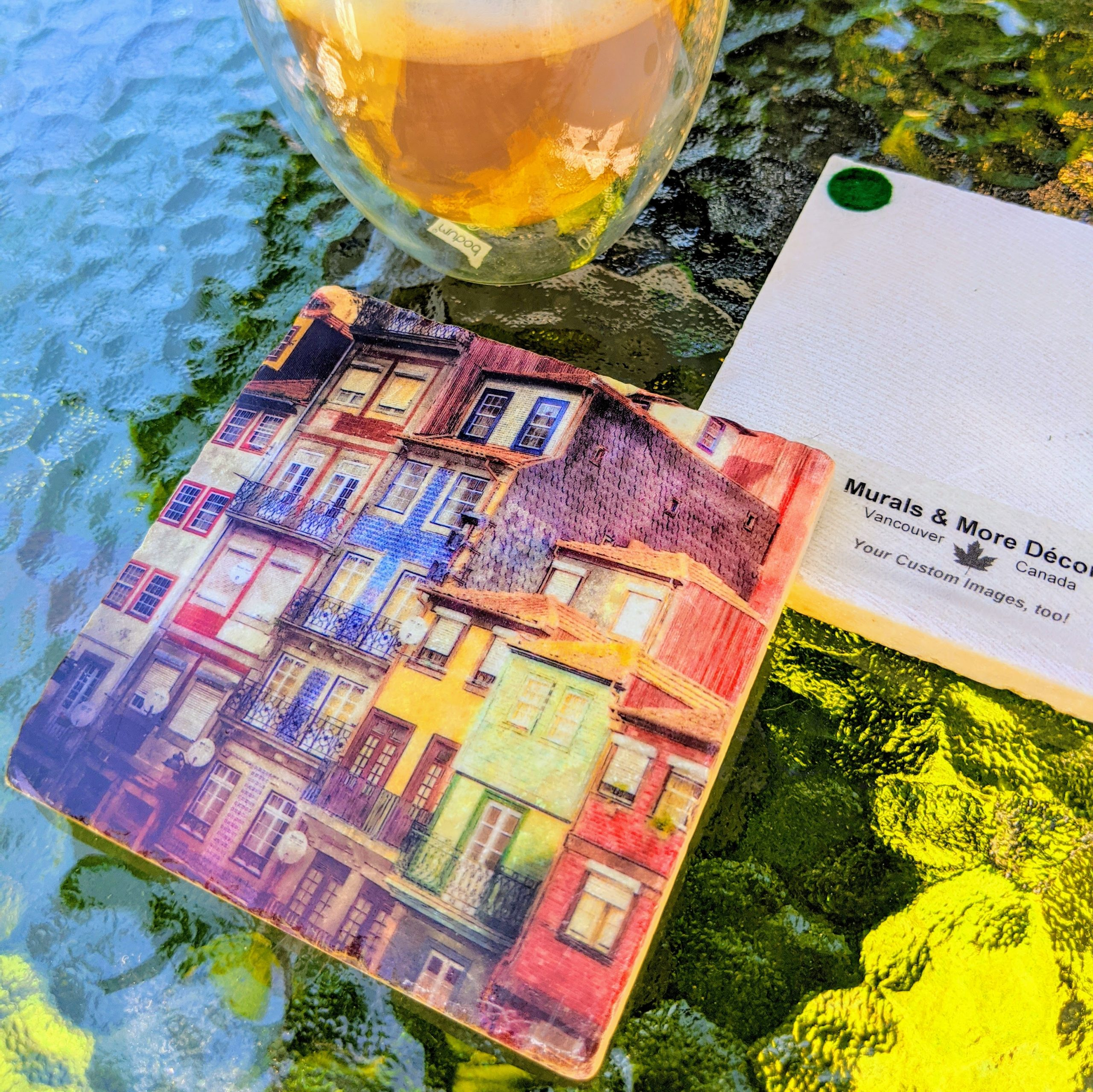 Marble Coaster - Porto Colours