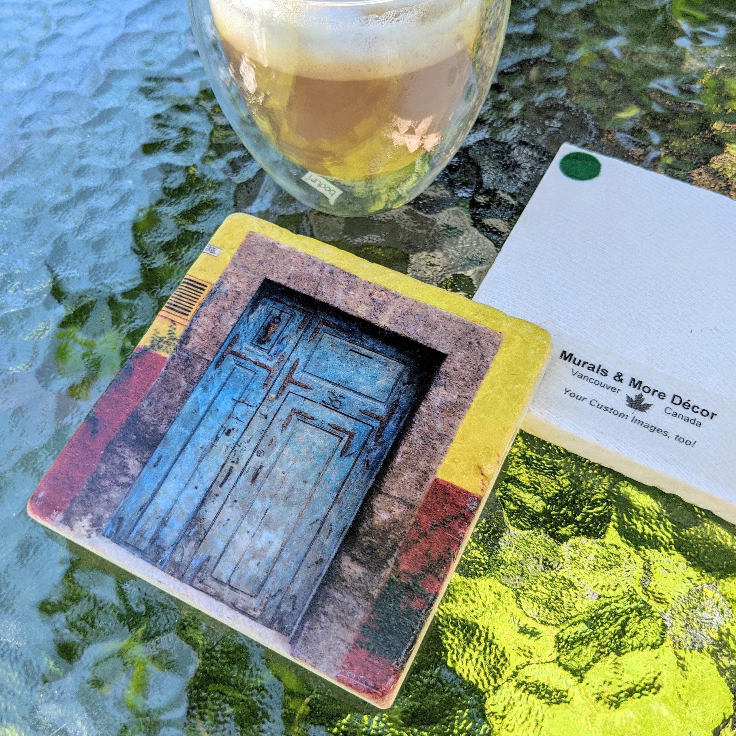 Marble Coaster San Miguel de Allenda Blue Door