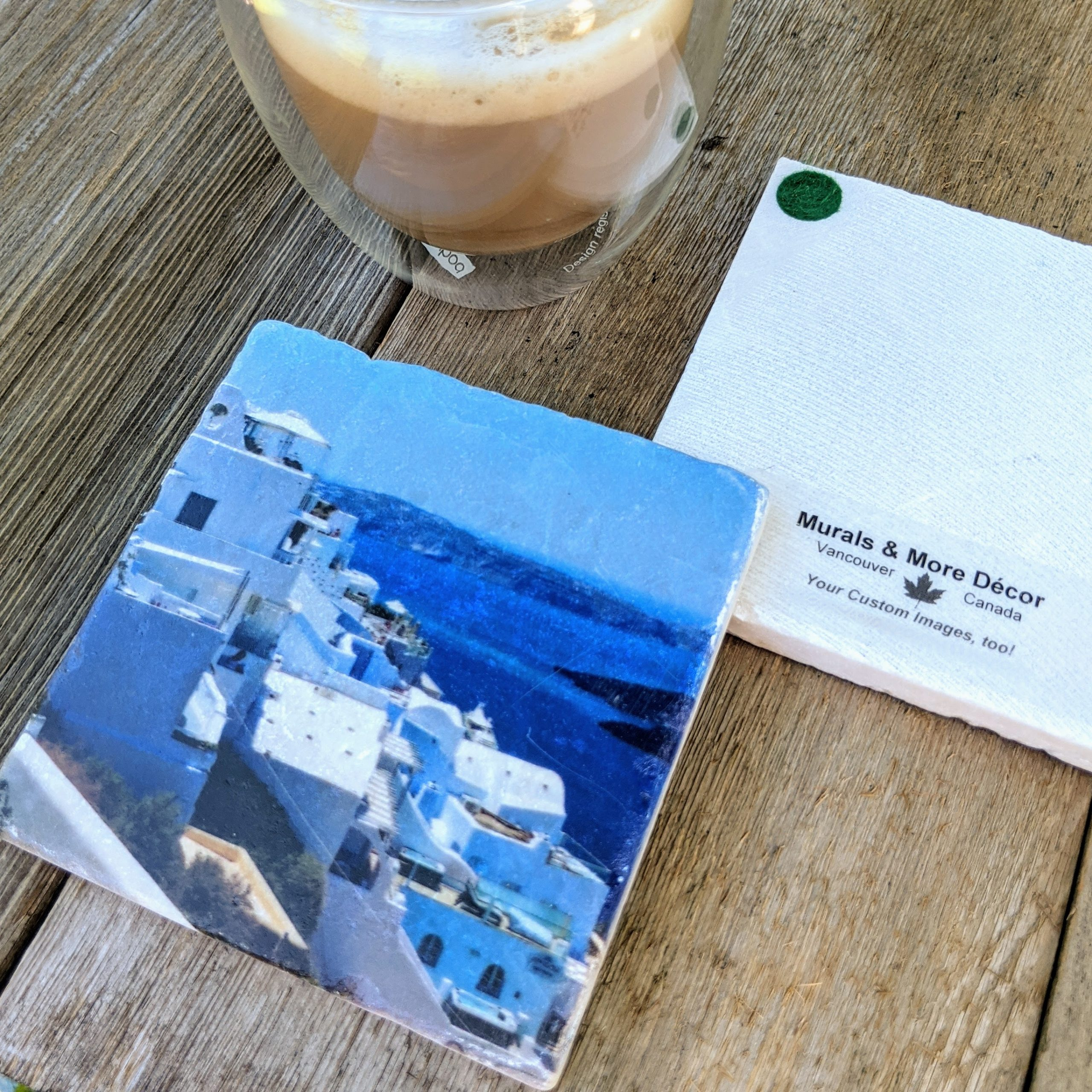 Marble Coaster - Santorini